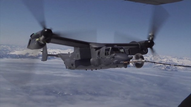 V-22 Osprey Aircraft Mid-air Refueling