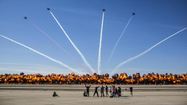 2017 Yuma Airshow wall of fire