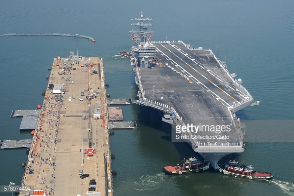 USS Dwight D. Eisenhower pierside