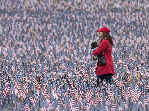 37252 flags placed on the Boston Common