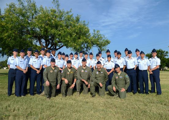 30 Civil Air Partol cadets graduated from a week-long immersion course at Laughlin Air Force Base Texas