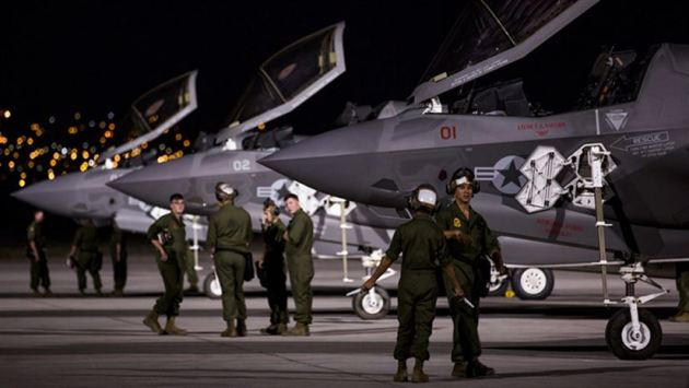F-35B Lightning IIs on the first day of Exercise Red Flag 17-3