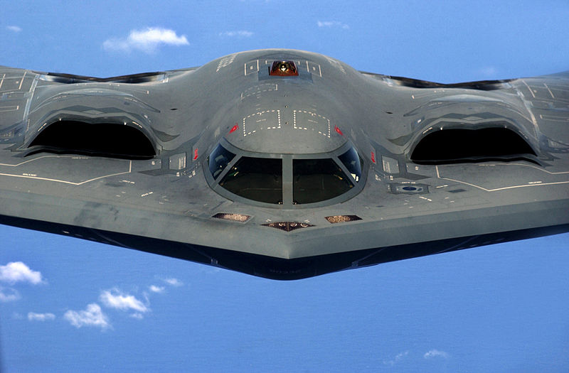 U.S. Air Force B-2 Spirit Stealth bomber, 393rd Expeditionary Bomb Squadron, 509th Bomb Wing, Whiteman Air Force Base, Mo
