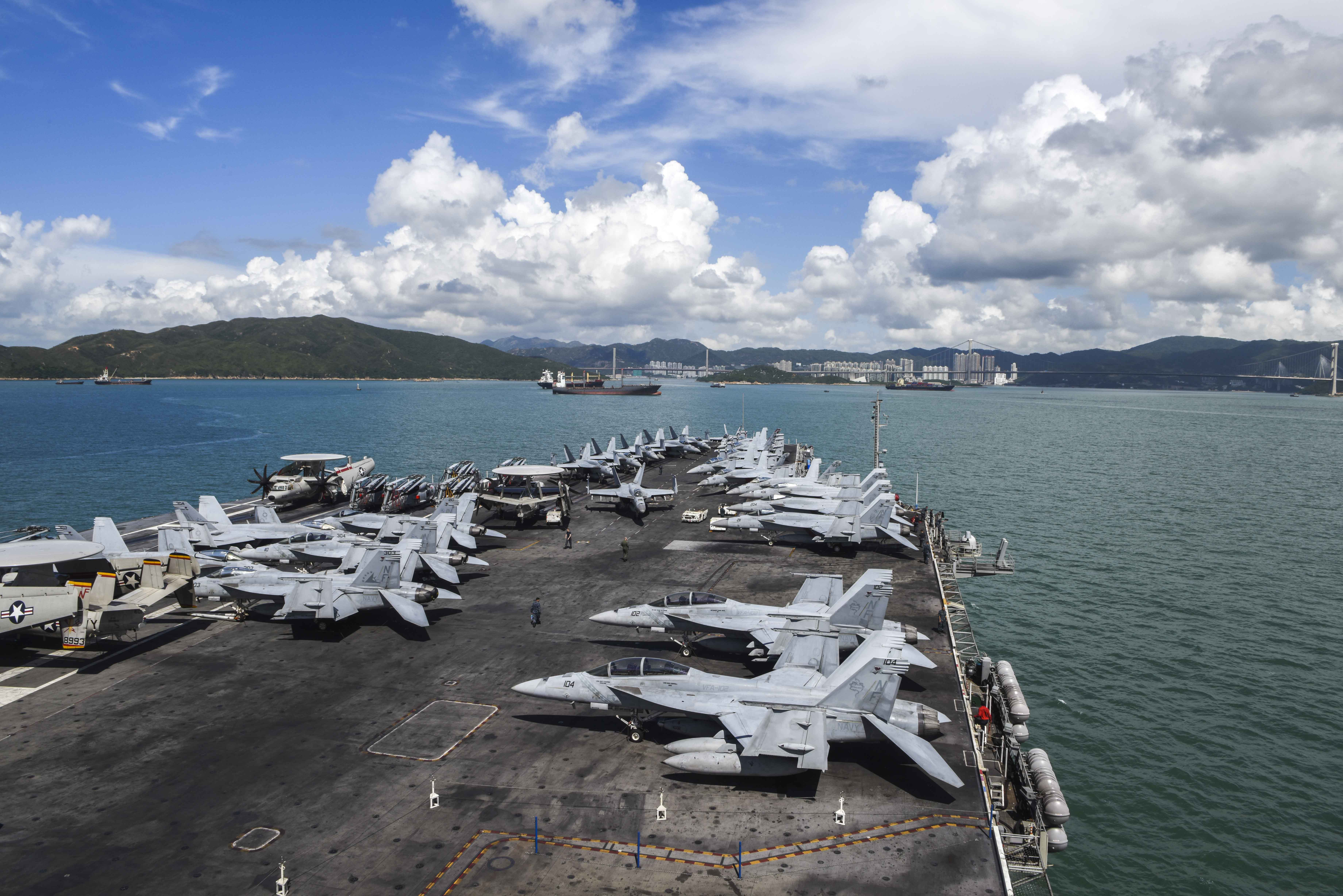 USS Ronald Reagan CVN 76 Hong Kong Harbor