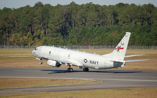 Naval Aviation Boeing P 8a Poseidon Maritime Patrol Aircraft Of The United States Navy In Flight