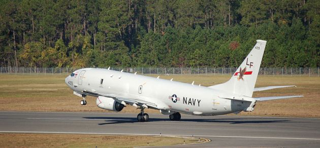 P-8A_Poseidon_of_VP-16_takes_off_from_NAS_Jacksonville_2013