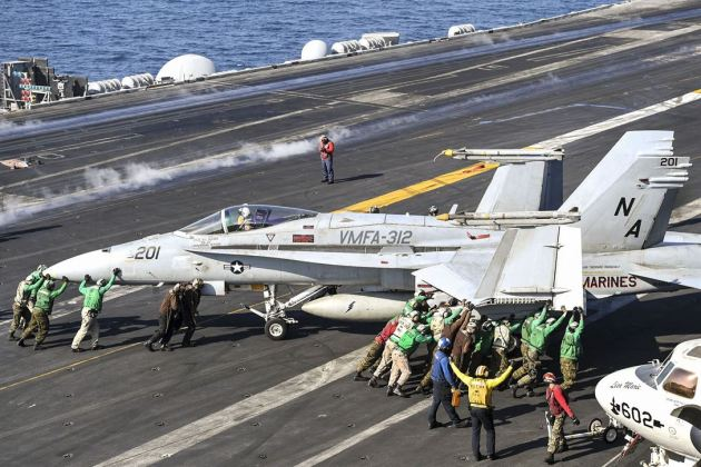 FA-18C Hornet assigned to Marine Strike Fighter Attack Squadron 312