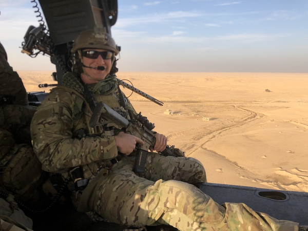 Staff Sgt. Carl Enis, a pararescueman with the 308th Rescue Squadron at Patrick Air Force Base in Florida, was one of seven service members killed in the crash of an HH-60 Pave Hawk in Anbar Province, Iraq, Thursday evening.