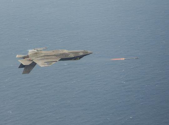 Lockheed Martin F-35 Performs an InvertedLiveFire of anAIM-9x Missile