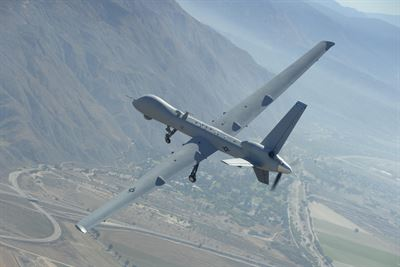 MQ-9 Reaper remotely piloted aircraft assigned to the California Air National Guard's 163rd Attack Wing