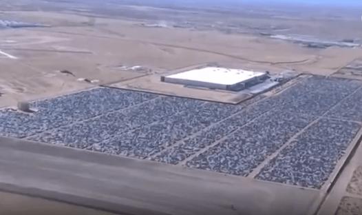 """Aerial Drone Footage of Volkswagen's """"Diesel Buyback Program' Boneyard"""