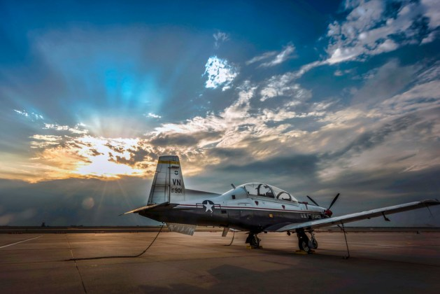 T-6A Texan II at Rest on the Flight Line Vance Air Force Base