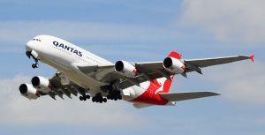 Qantas Flight Airbus A380-842