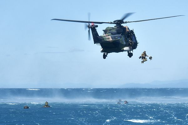 Australian Army Helocasts in the Pacific
