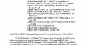 dod bans commercial drones