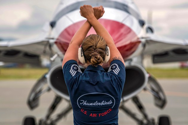 Air Force Staff Sgt. Kaitlyn Lamolinara Thunderbirds Crew Chief