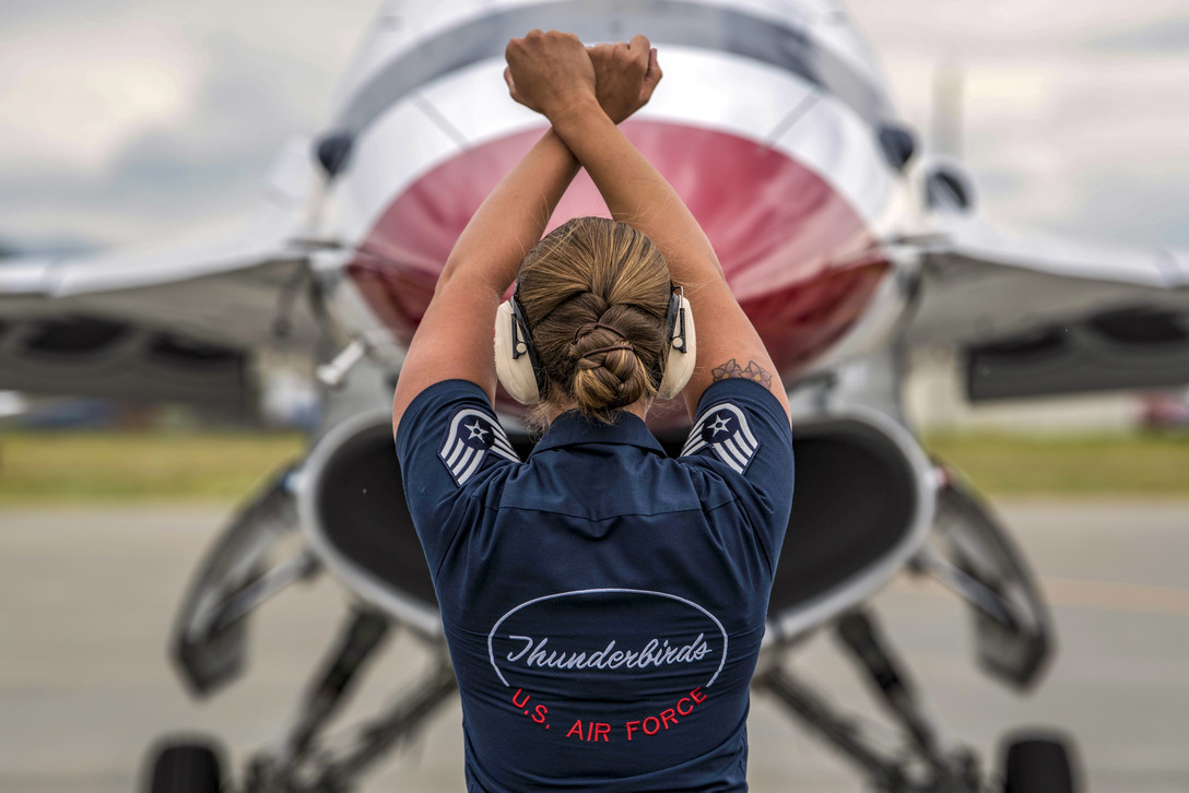 Air Force Staff Sgt. Kaitlyn Lamolinara Thunderbirds Crew Chief