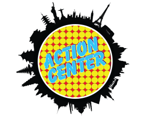 ACTION CENTER white outline