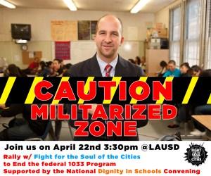 caution militarized area
