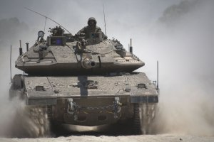 Merkava Mk 4 tank during Operation Protective Edge