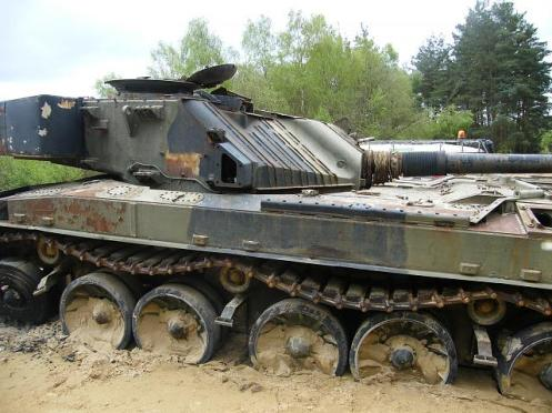 Challenger 1 Tank with its Chobham armor removed
