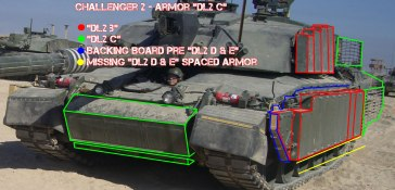 Challenger 2 Tank DL2 B and DL2 C