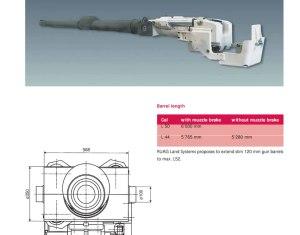 CV90120-T CTG 120 L50 (Compact Tank Gun)