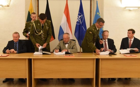 OCCAR meeting signing for the VILKAS Infantry Fighting Vehicle