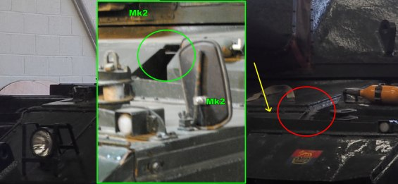 Conqueror Tank Mk1 and Mk2 Differences Image 5