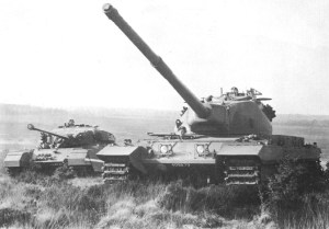 Conqueror Tank Mk1 in the foreground & Centurion Mk3 in the background