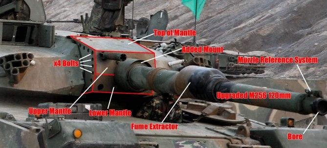 K1A1 Tank M256 120mm main gun