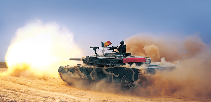 K1E1 Tank Firing