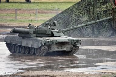 Russian T-80U Tank rear view