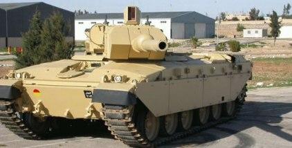 Jordanian Falcon Turret on Challenger 1 Al-Hussein Tank