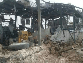 A water desalination plant in Yemen destroyed by Saudi coalition.