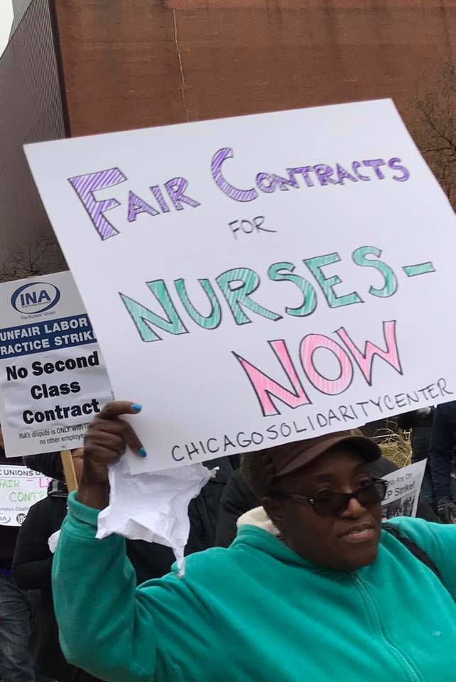 Chicago LPN strikers Nov 2018