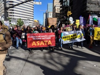 Three thousand people march in the Anti Police-Terror Project's fifth annual People's March to Reclaim King's Radical Legacy on January 21. The event also commemorated the tenth anniversary of the murder of Oscar Grant, who was killed by a BART police officer in 2009.