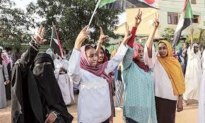 Sudan women celebrate the July 5, 2019 agreement to create a sovereign council