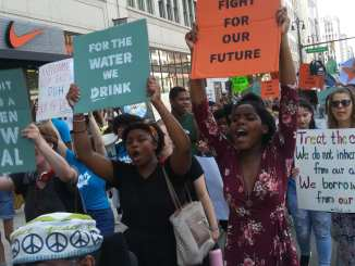Detroit Climate Strike march on Fri. Sept. 20, 2019