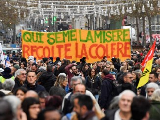 French workers demonstrate over pension reforms