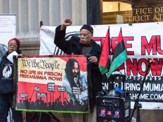 Free Mumia rally at Philly DA's office