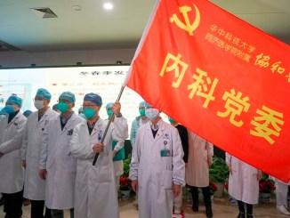 Medical team in Wuhan.
