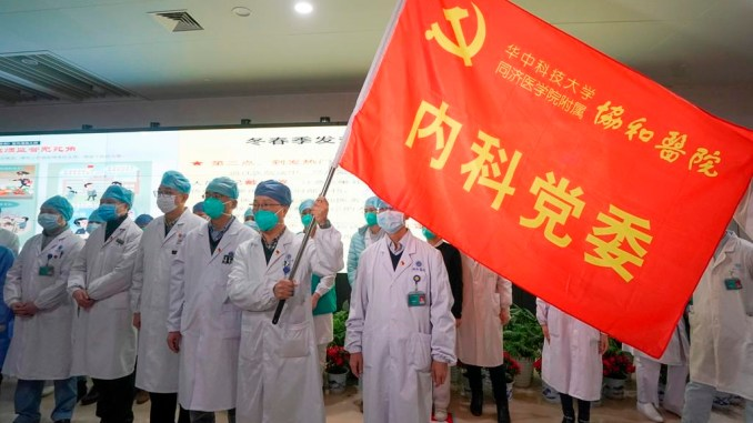 Medical team in Wuhan.