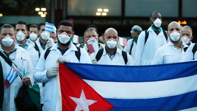 Cuba medical team arrives in Italy amid COVID-19 pandemic