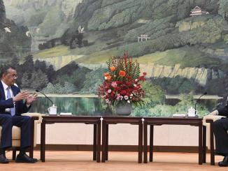 Dr. Tedros Adhanom, WHO Director General meets with Chinese President Xi Jinpinge