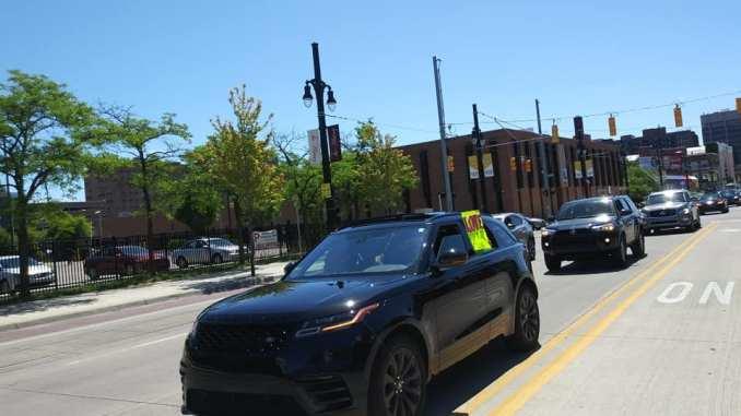 Detroit to Pontiac car caravan in support of Black Lives