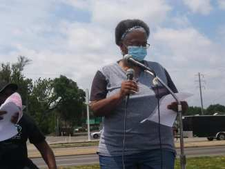 Joyce Sole speaks Black Lives Matter Across 8 Mile