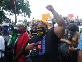 Detroit demonstration against police killing of Hakim Littleton on July 10, 2020