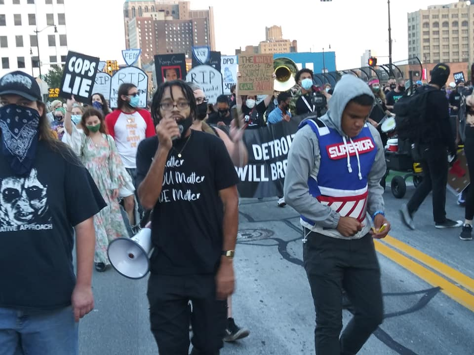 Detroit 100 Days Victory March won a major victory when a federal judge issued a TRO against cops
