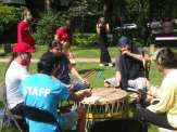Indigenous people want name change in historic neighborhood as traditional drummers play